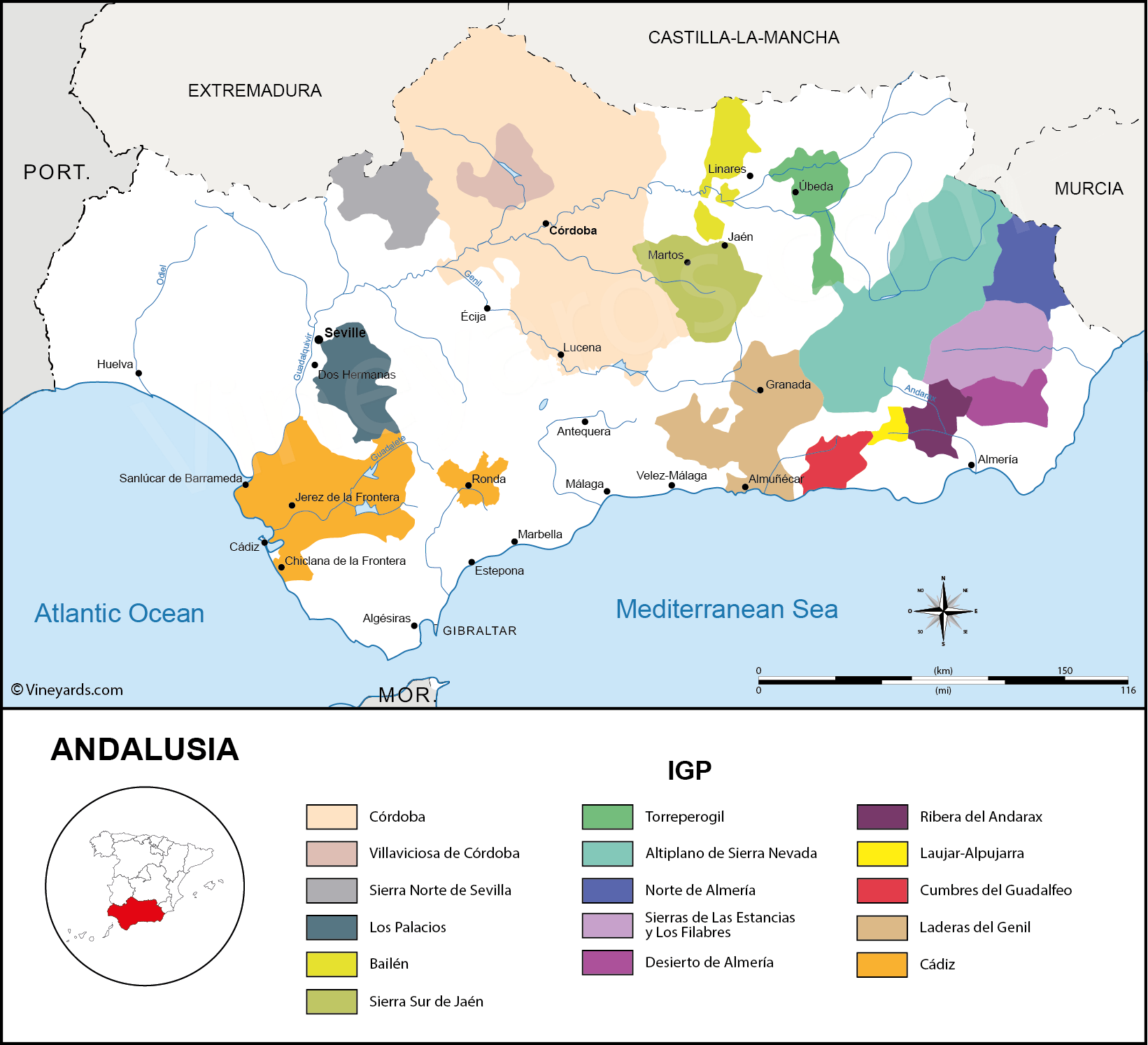 Wine Regions in Andalusia IGP