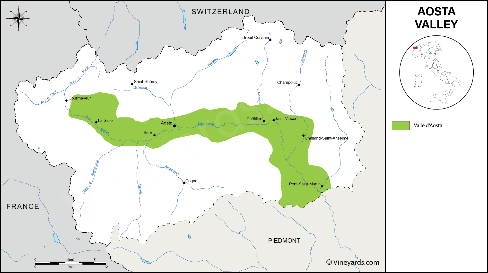 Wine Regions in Aosta Valley