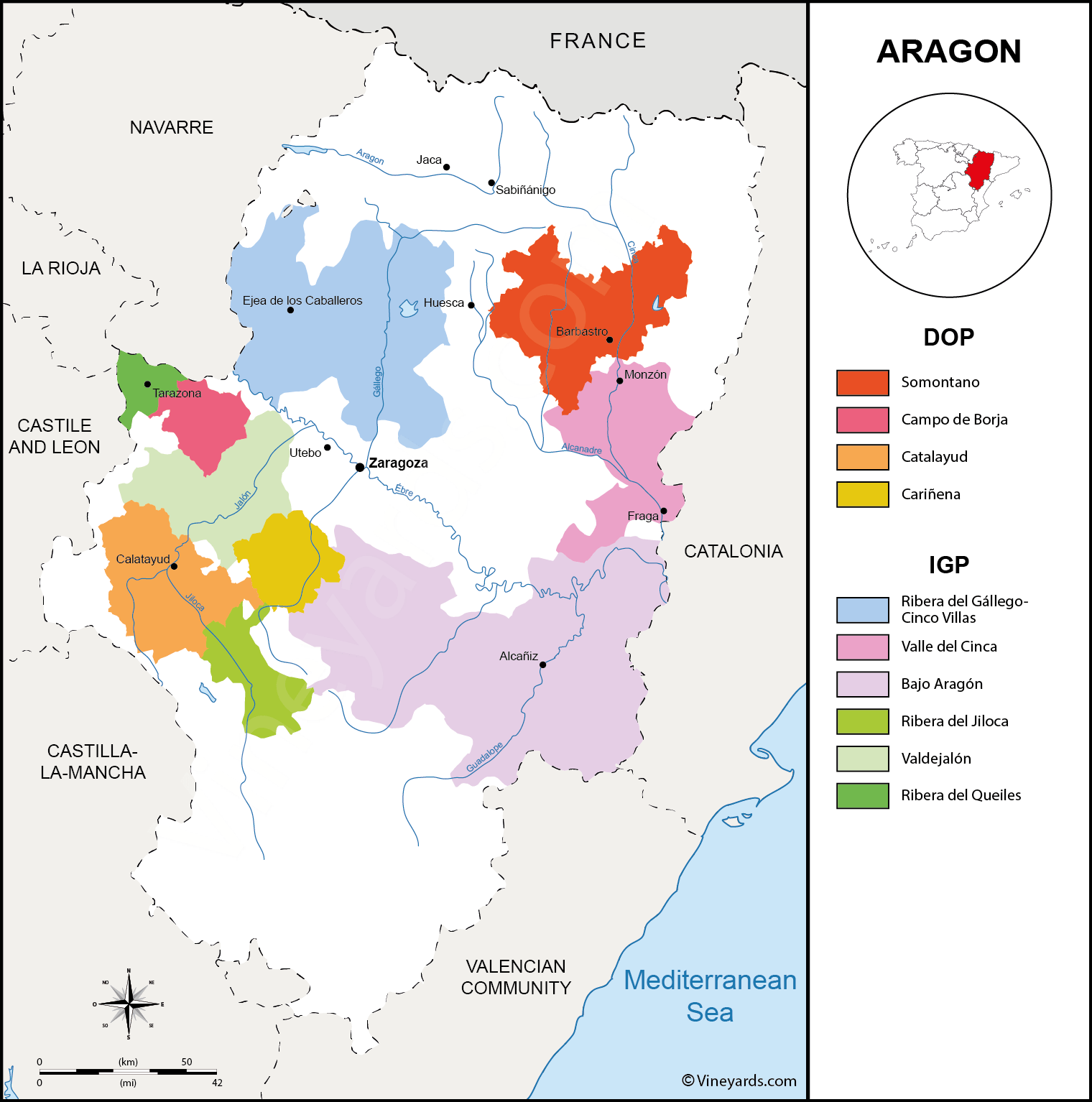 Map Of Spain Vineyards.Spain Map Of Vineyards Wine Regions