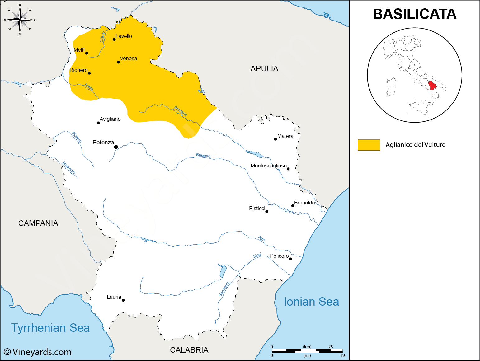 Wine Regions in Basilicata