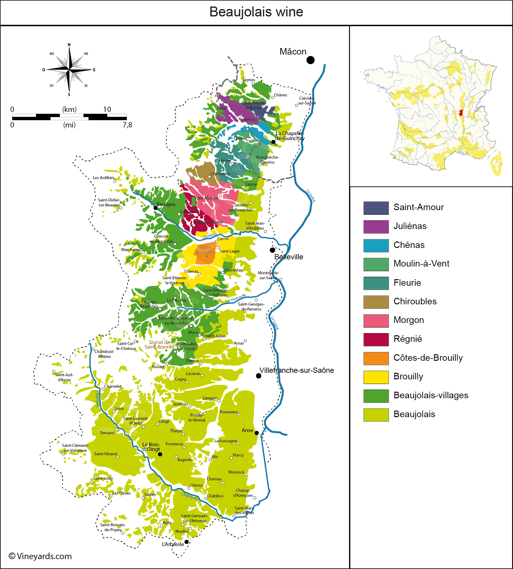 Regions In France Map.France Map Of Vineyards Wine Regions