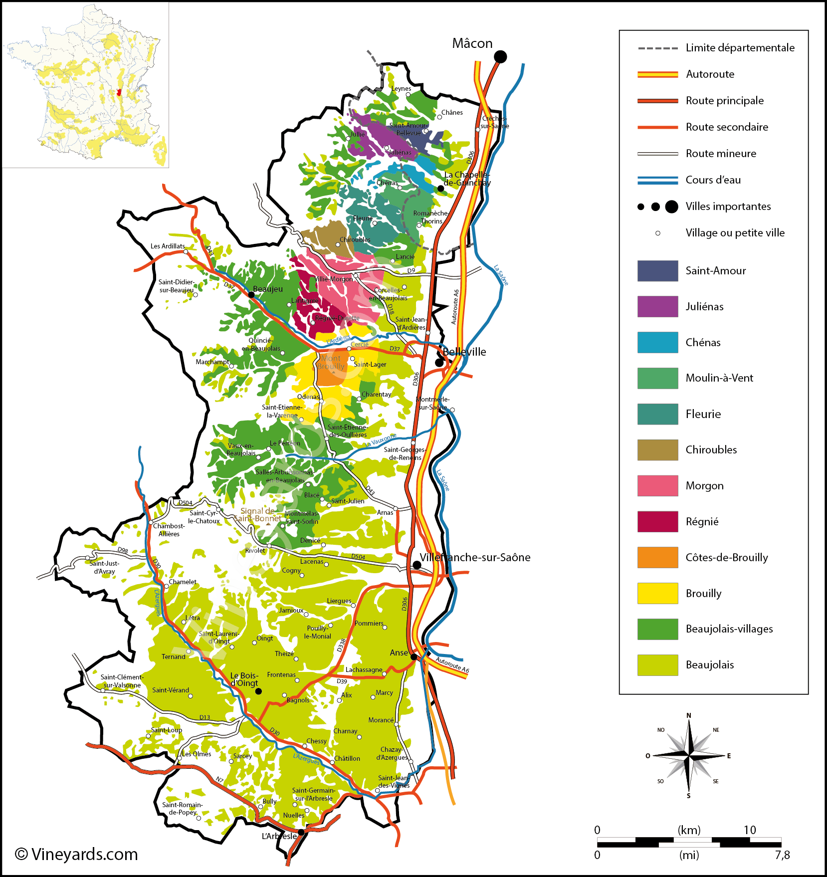Wine Regions in Beaujolais