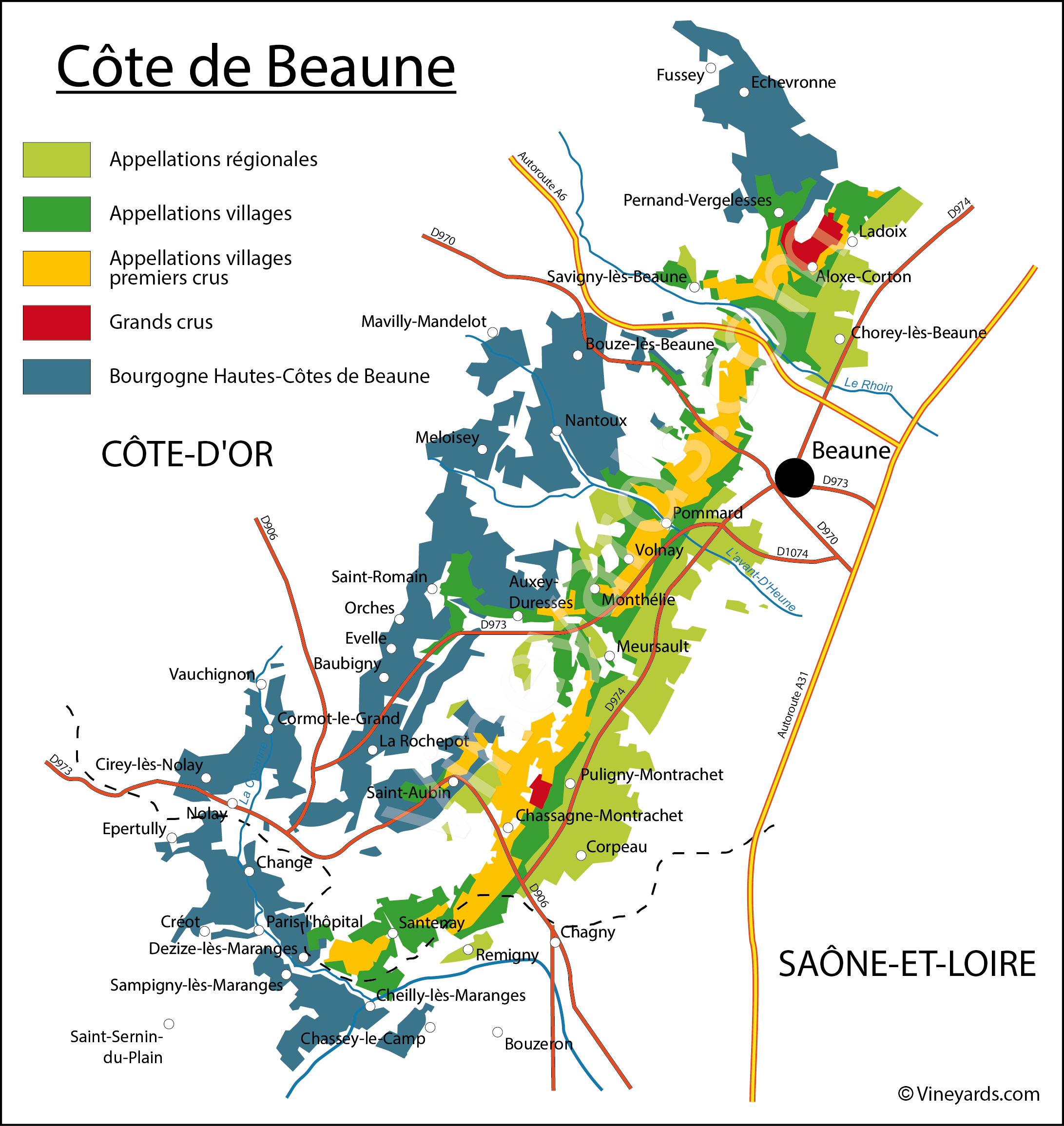 Wine Regions in Côte de Beaune