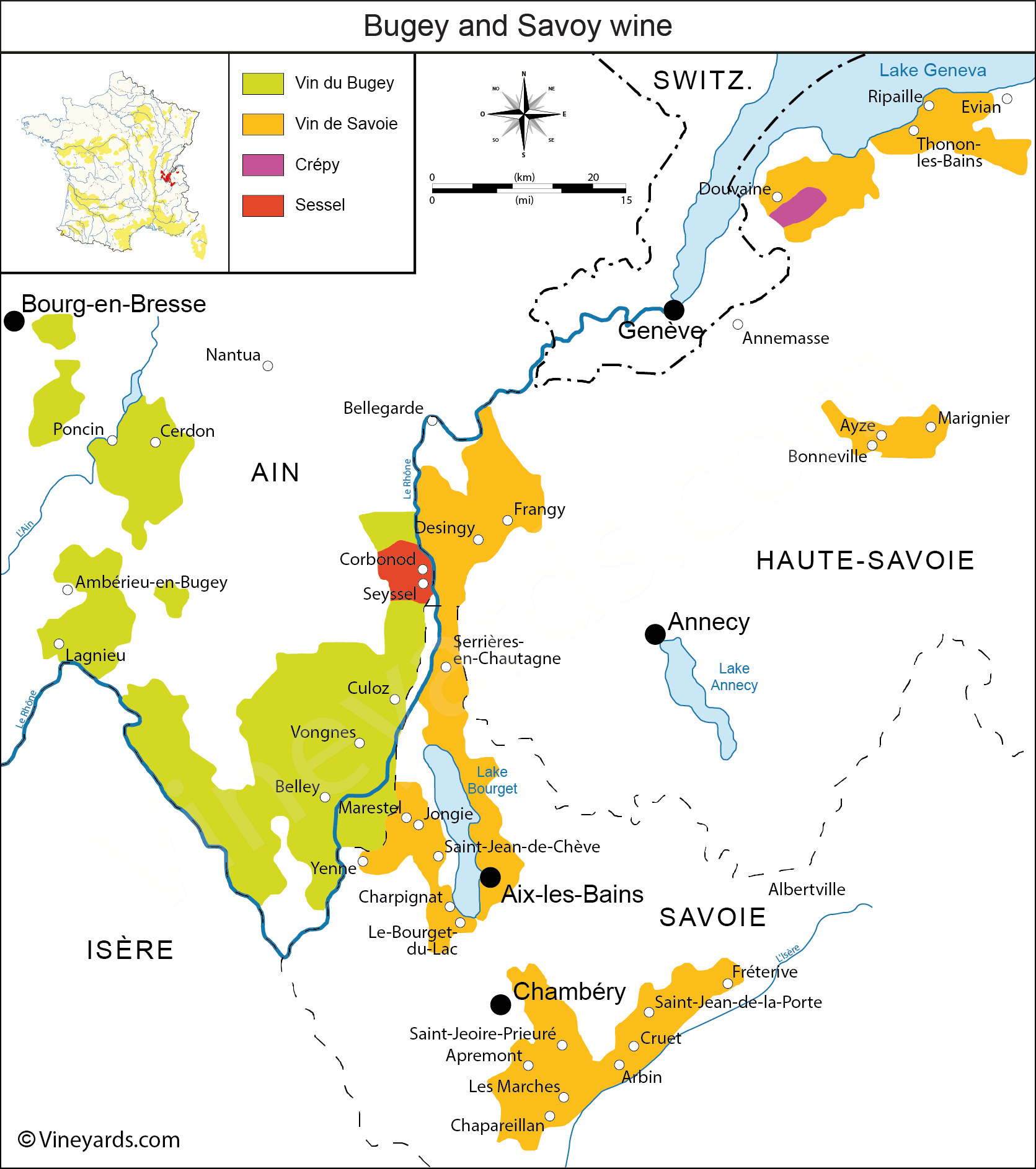 Wine Regions in Bugey Savoie