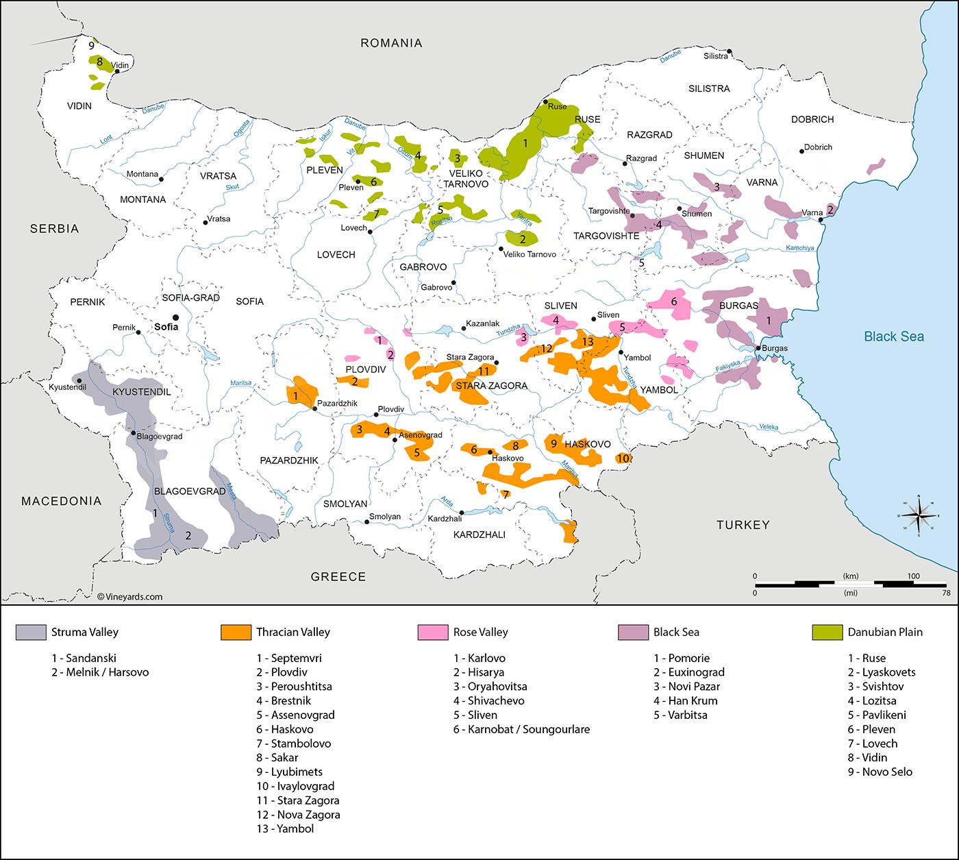 Wine Regions in Bulgaria