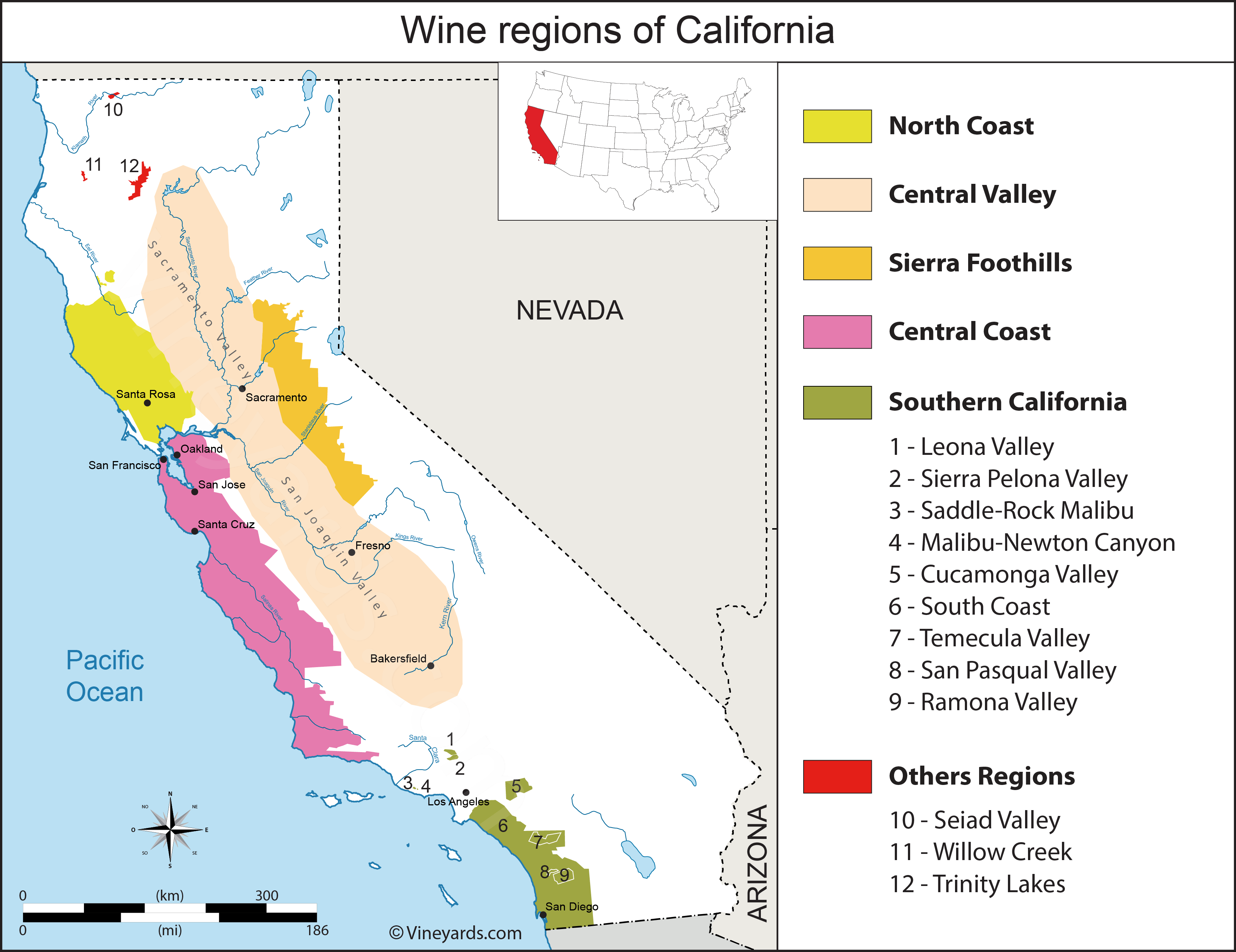 Wine Regions in California