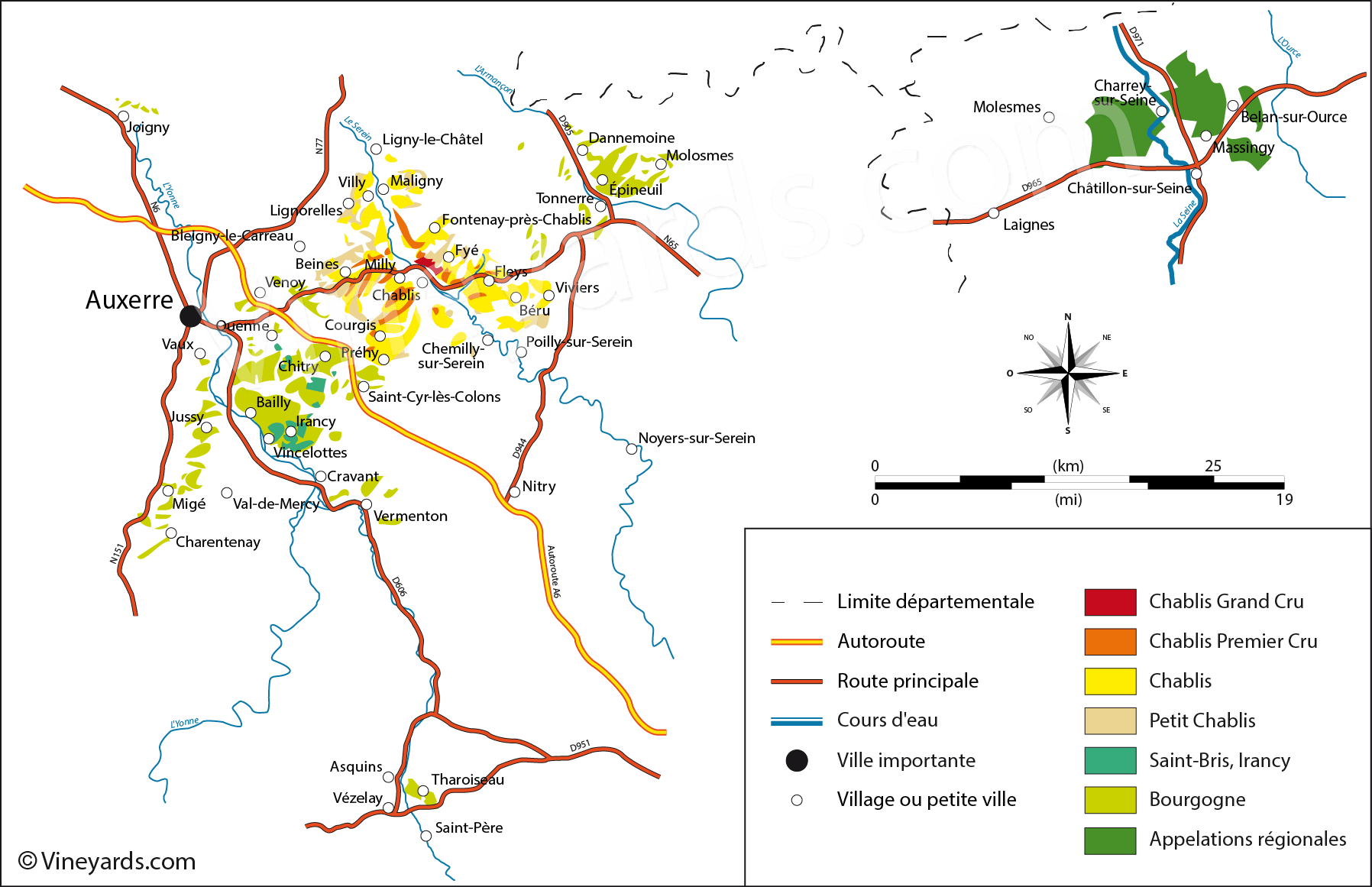 Wine Regions in Chablis Chatillonais