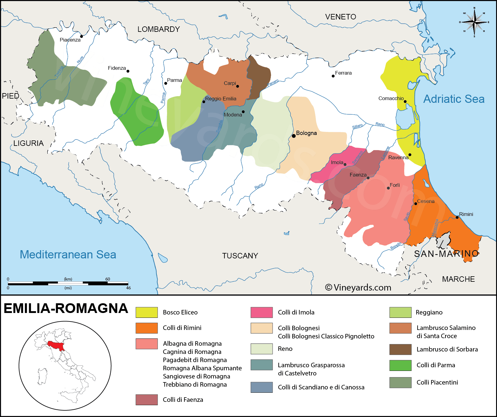 Wine Region Italy Map.Italy Map Of Vineyards Wine Regions
