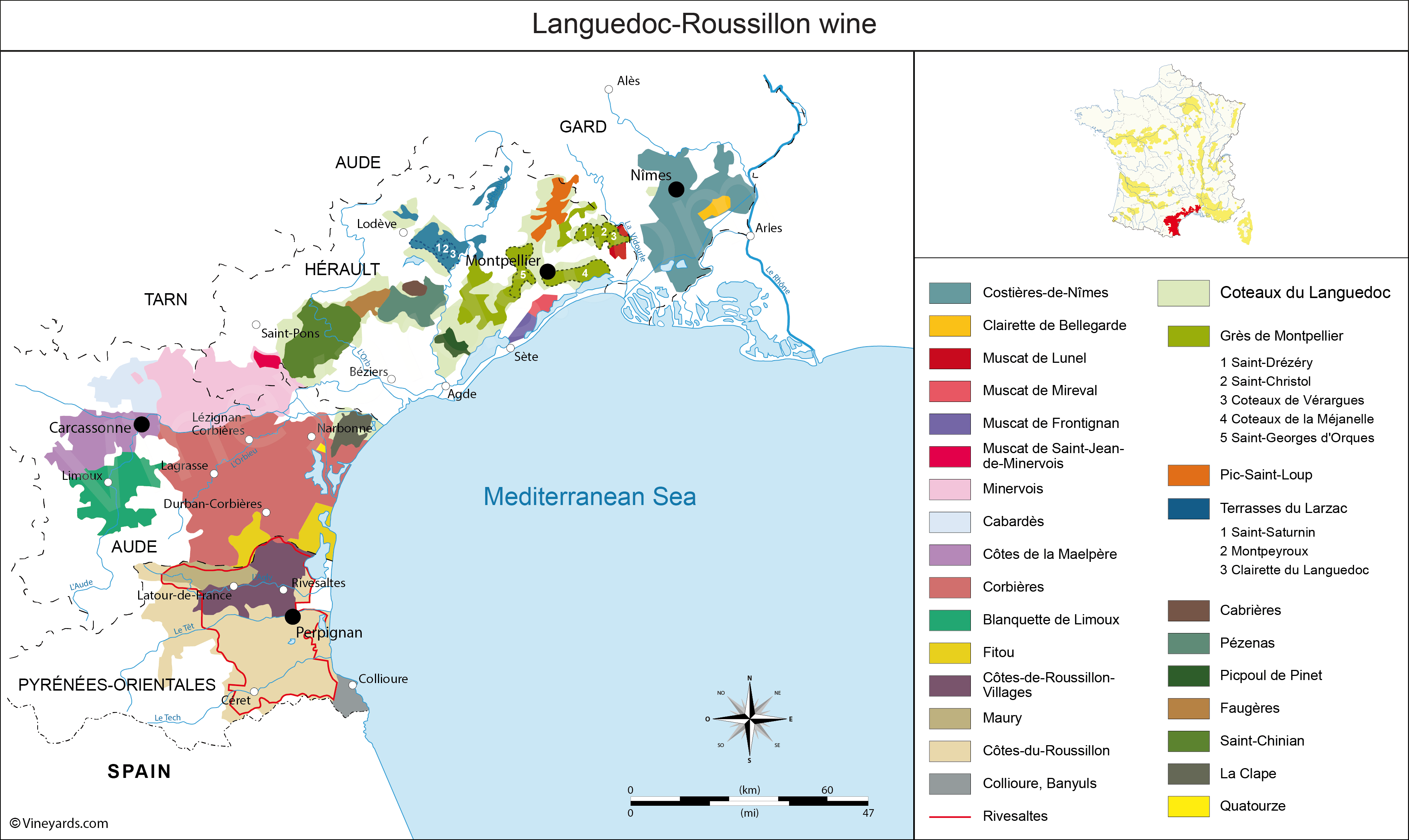 Wine Regions in Languedoc