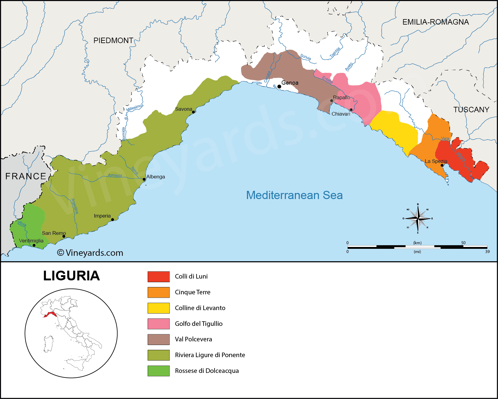 Wine Regions in Liguria