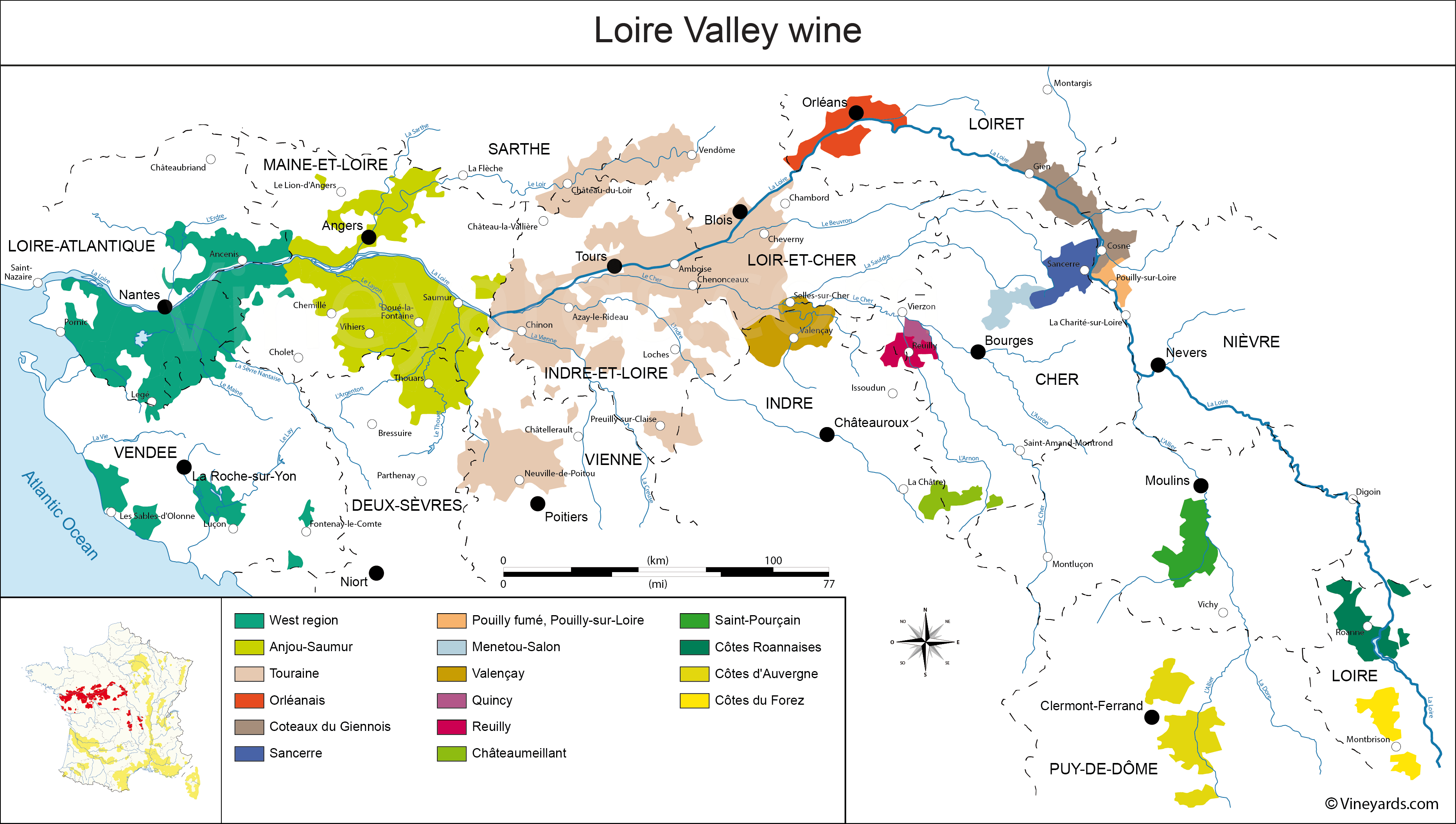 Wine Regions in Loire Valley