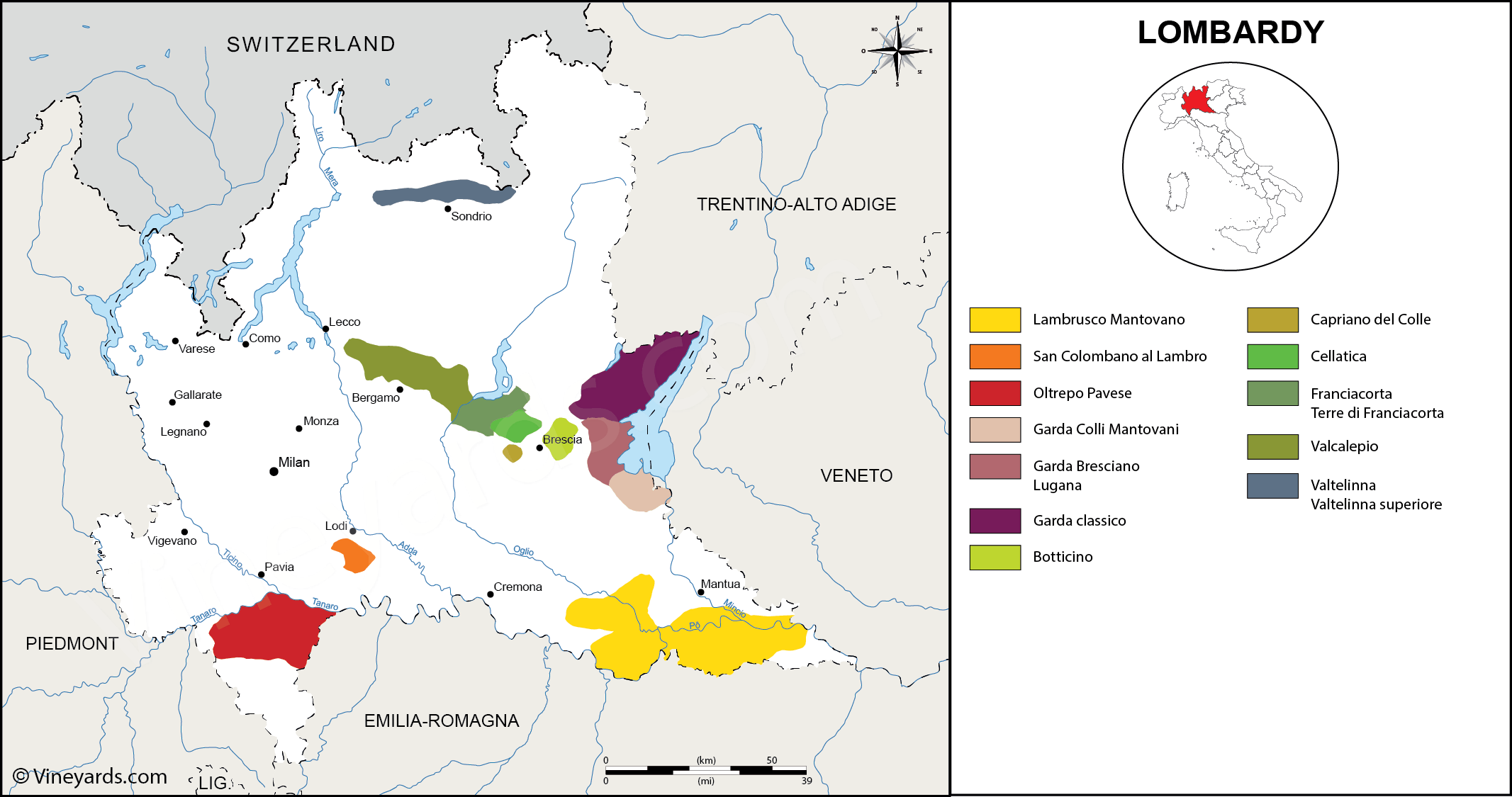 Wine Regions in Lombardy