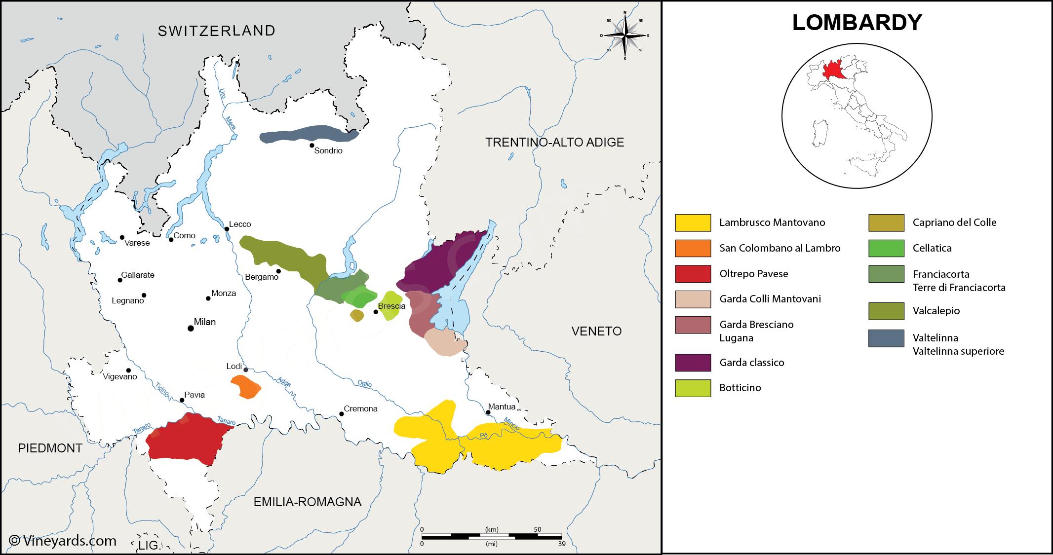 Wine Regions in Lombardy