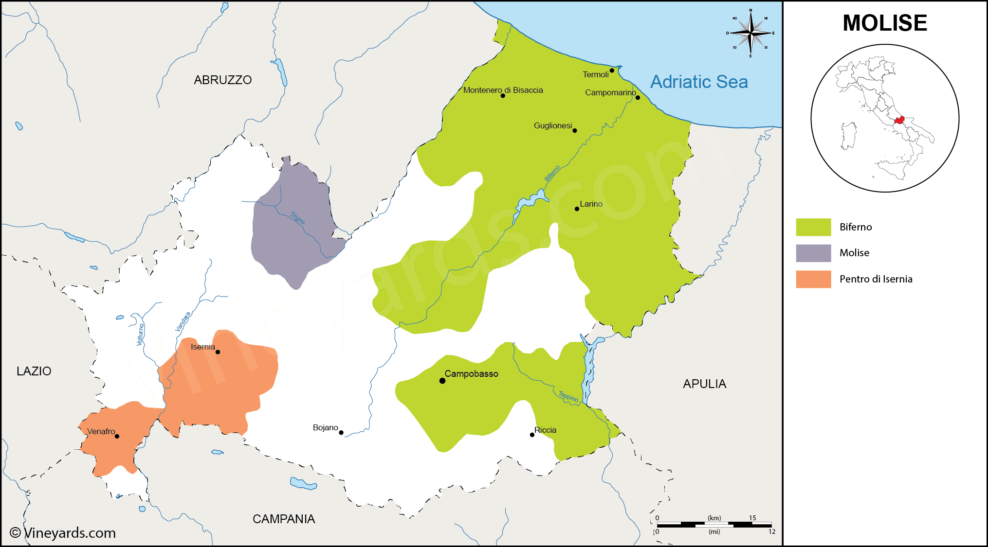Wine Regions in Molise