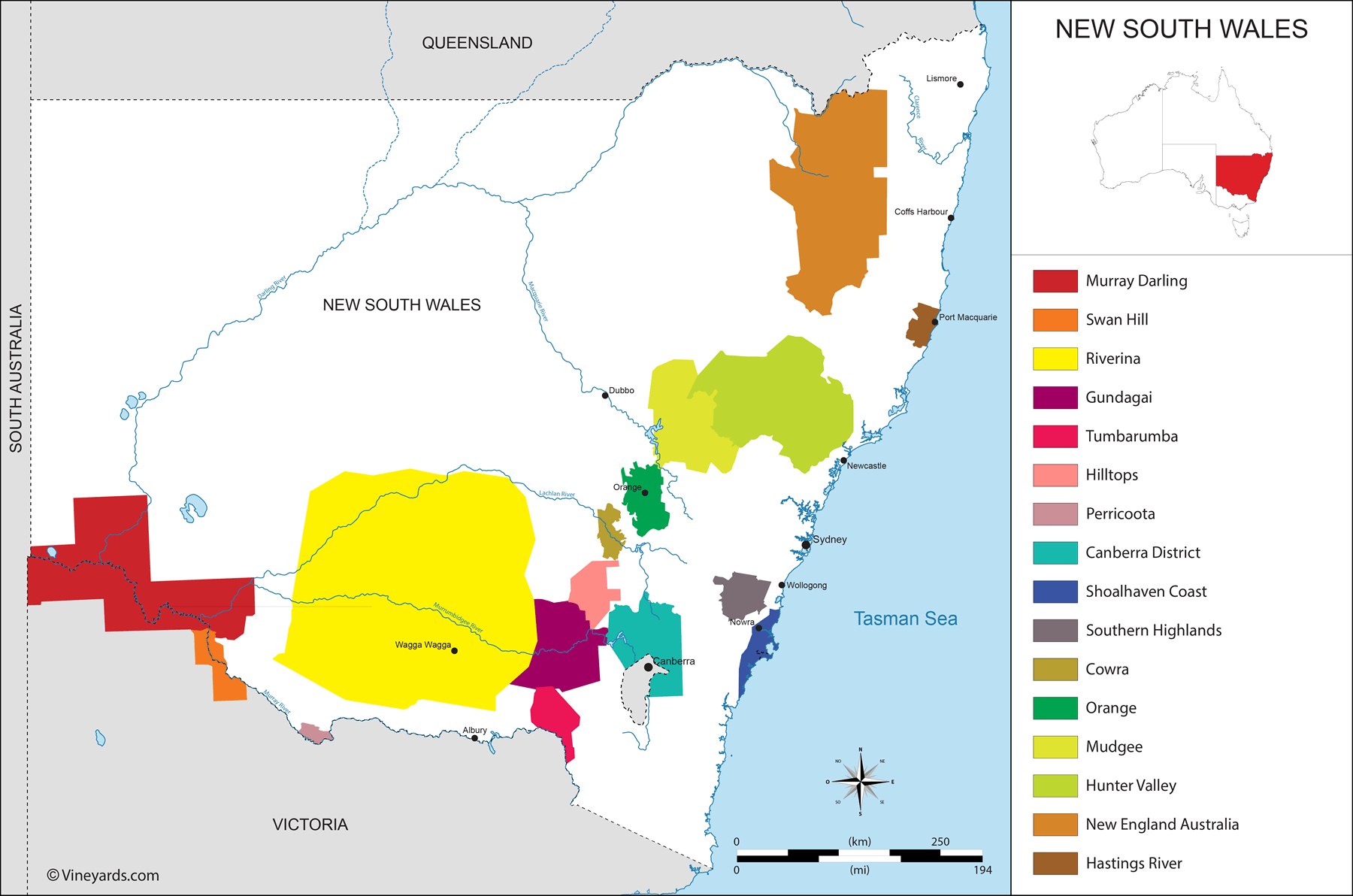 Wine Regions in New South Wales