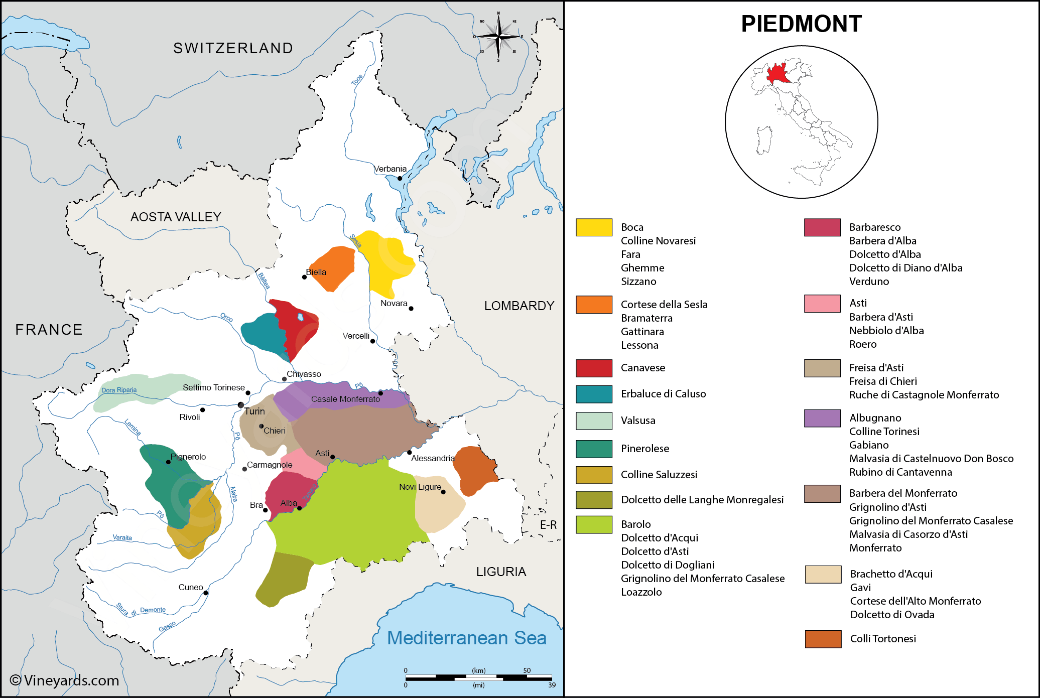 Wine Regions in Piedmont