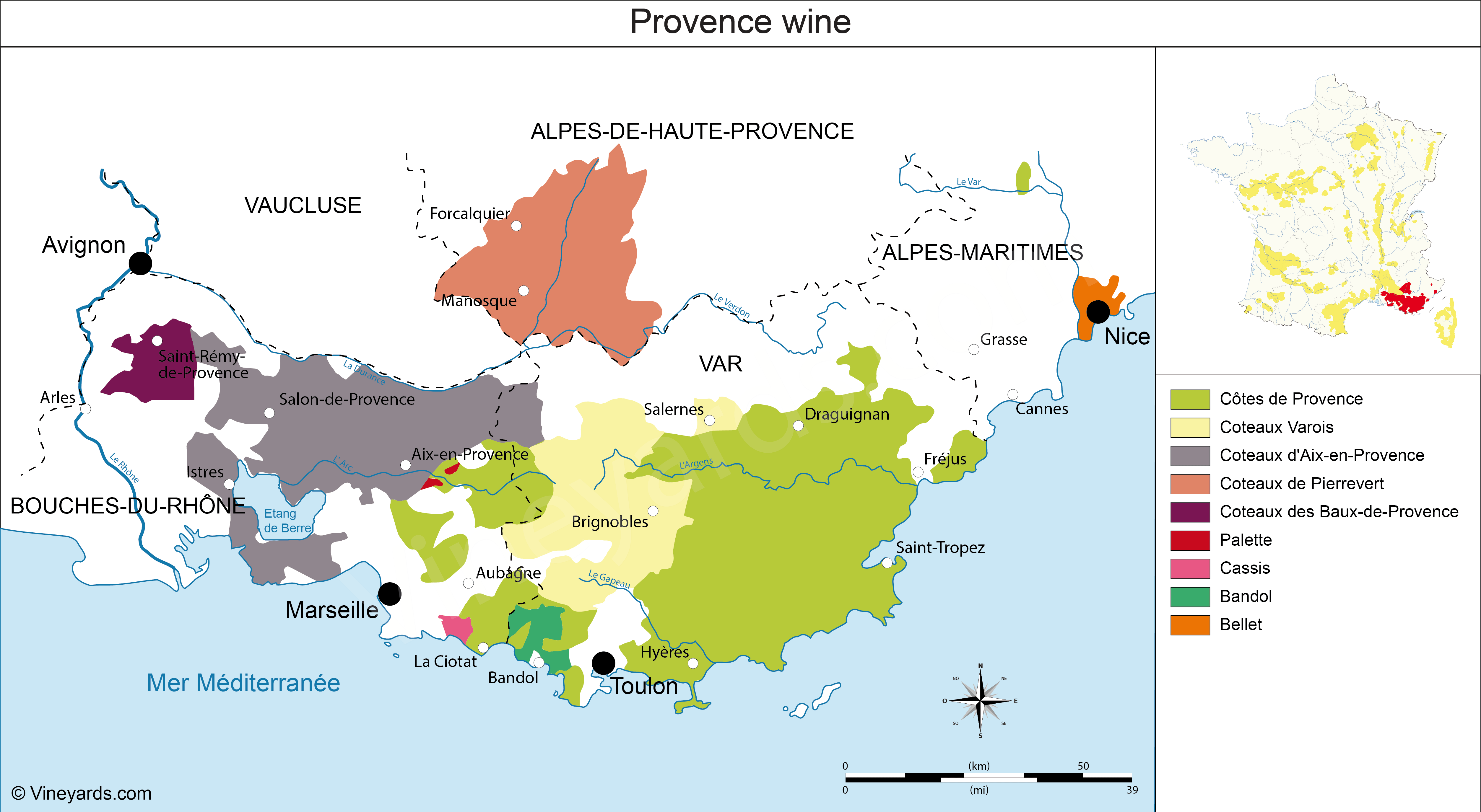 Wine Regions in Provence