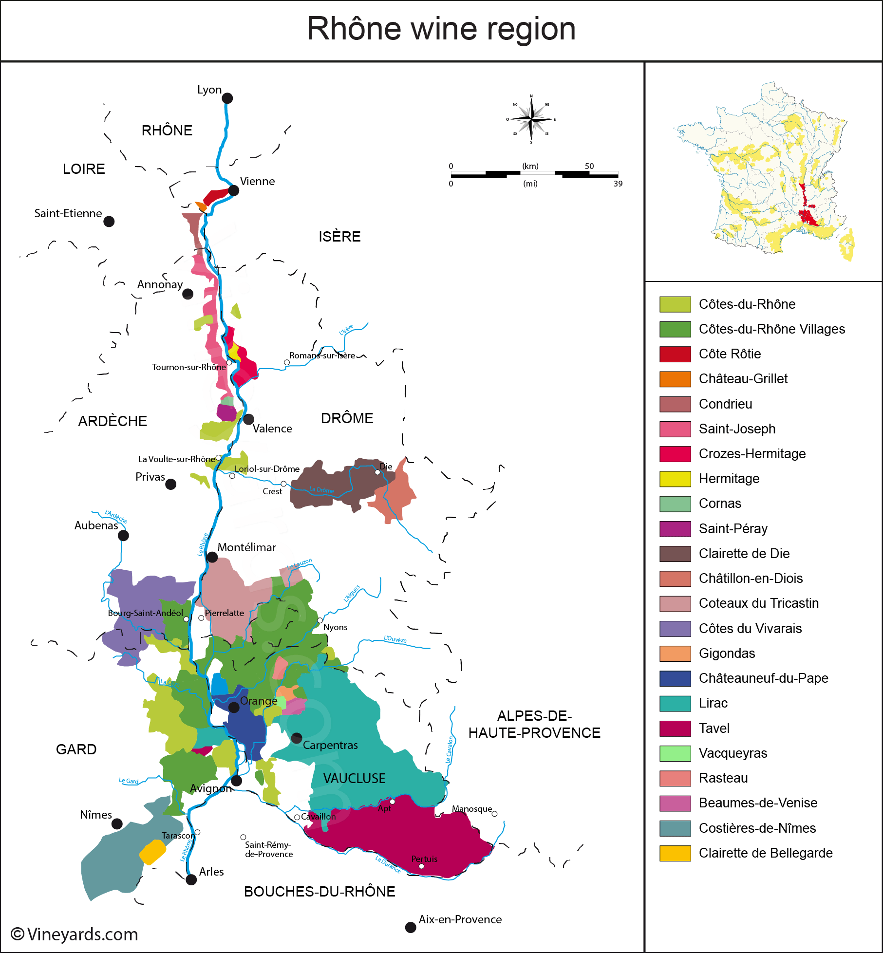 Wine Regions in Rhône Valley