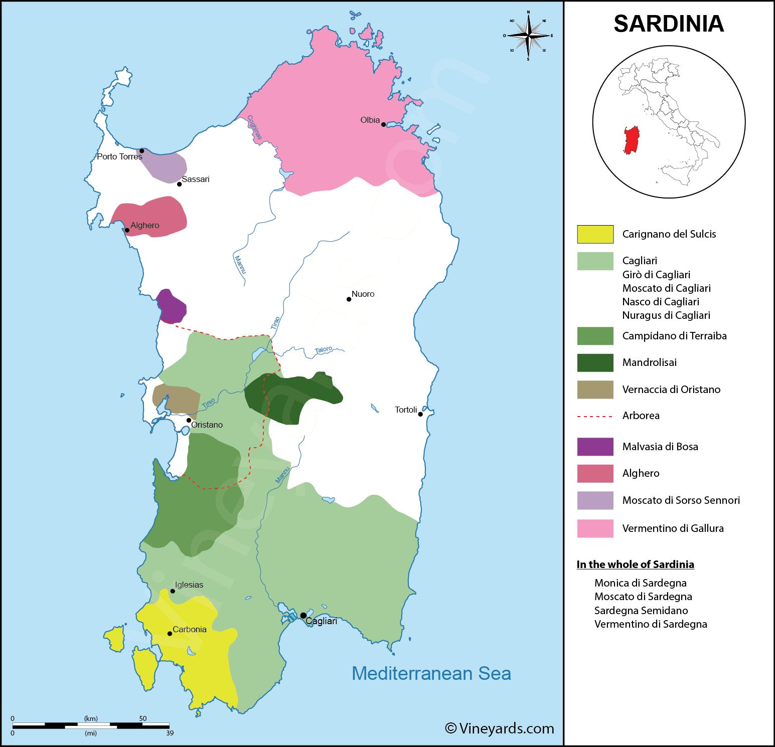Wine Regions in Sardinia
