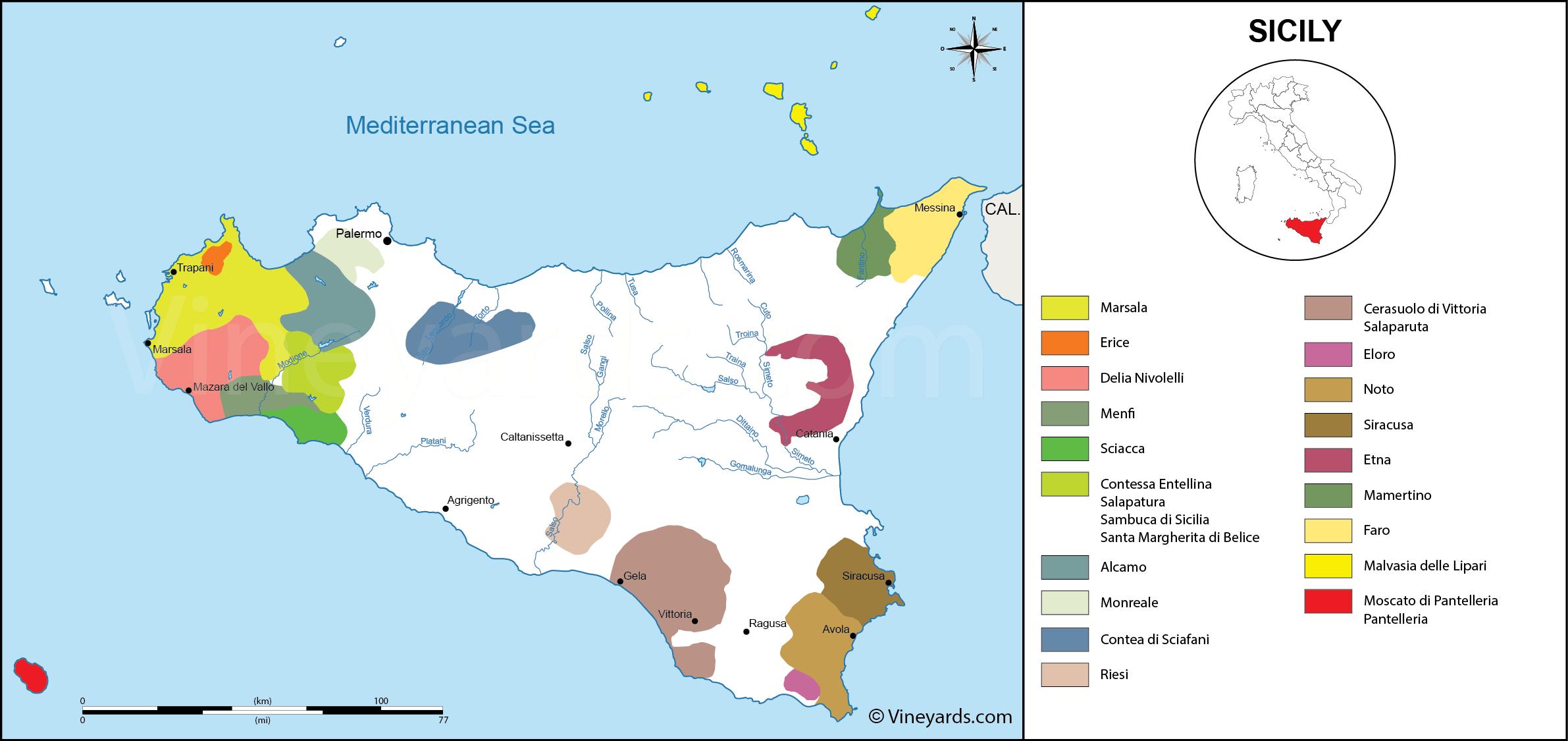 Wine Regions in Sicily