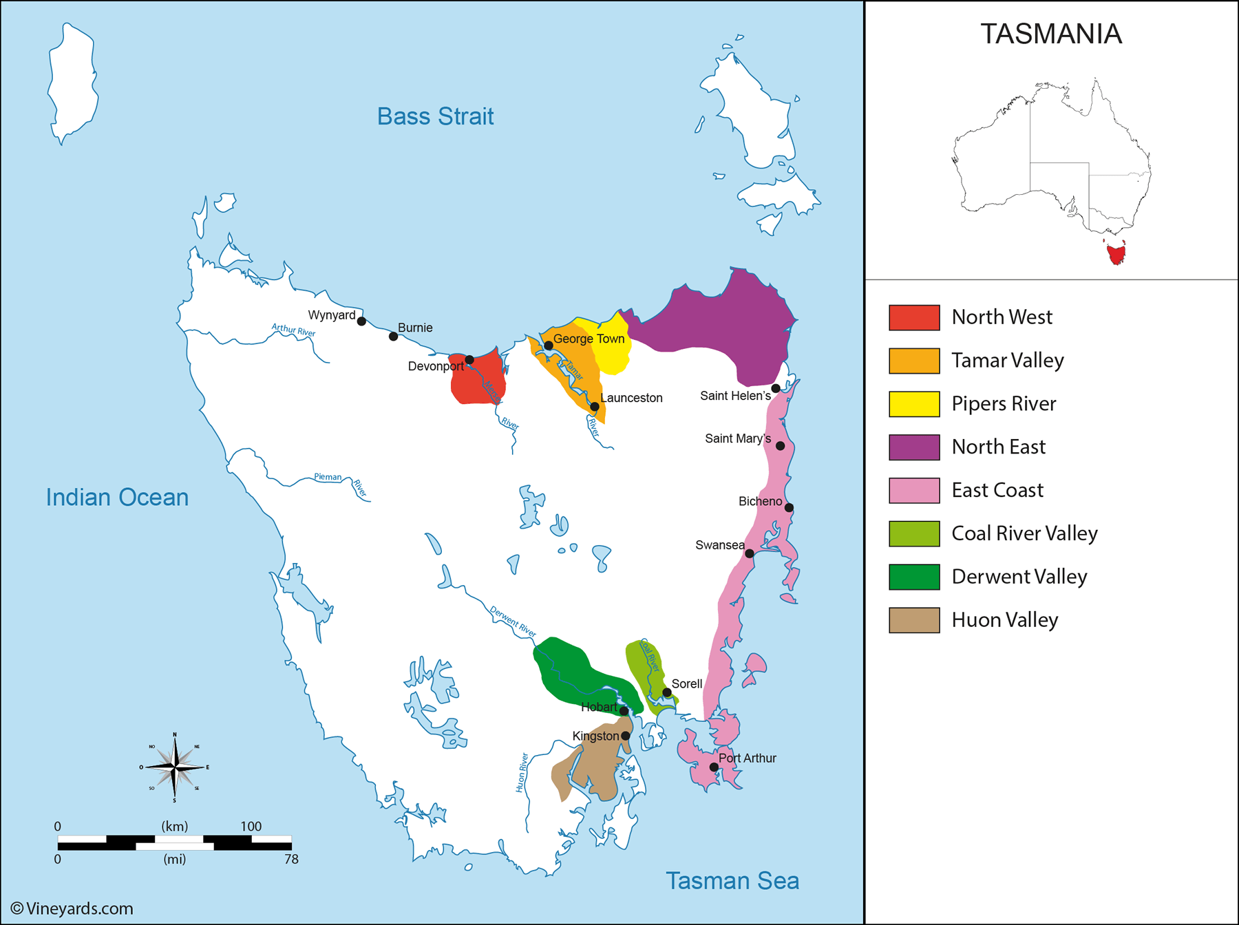 Wine Regions in Tasmania
