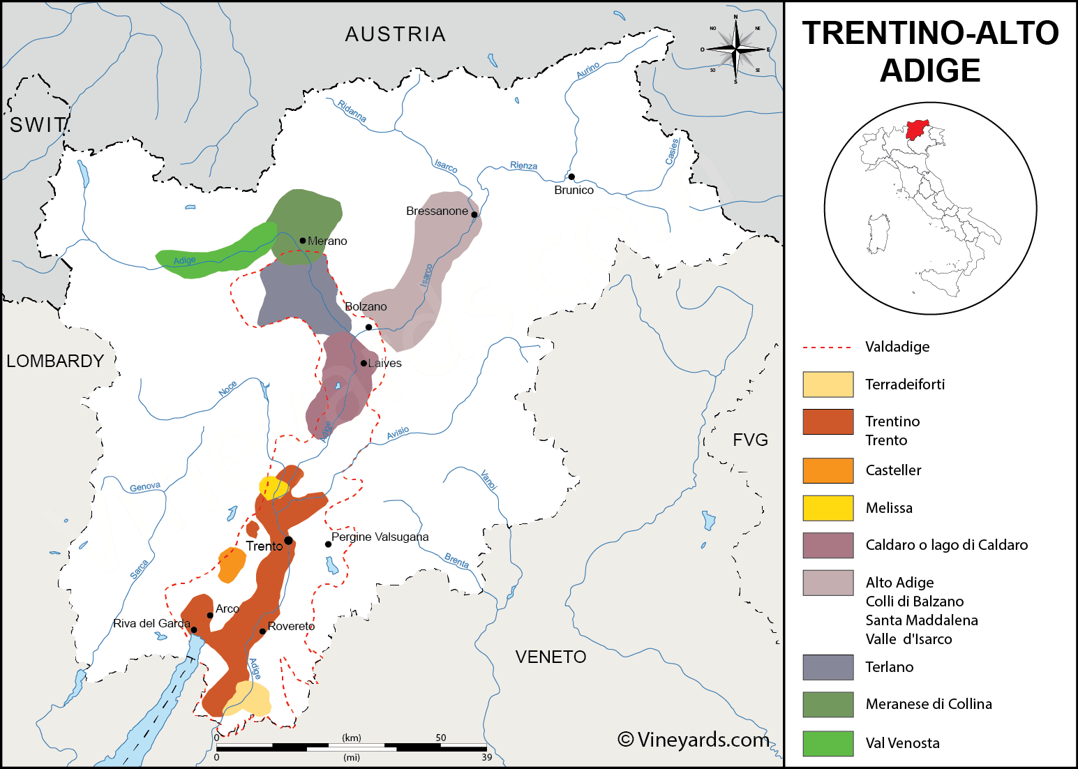 Wine Regions in Trentino South Tyrol