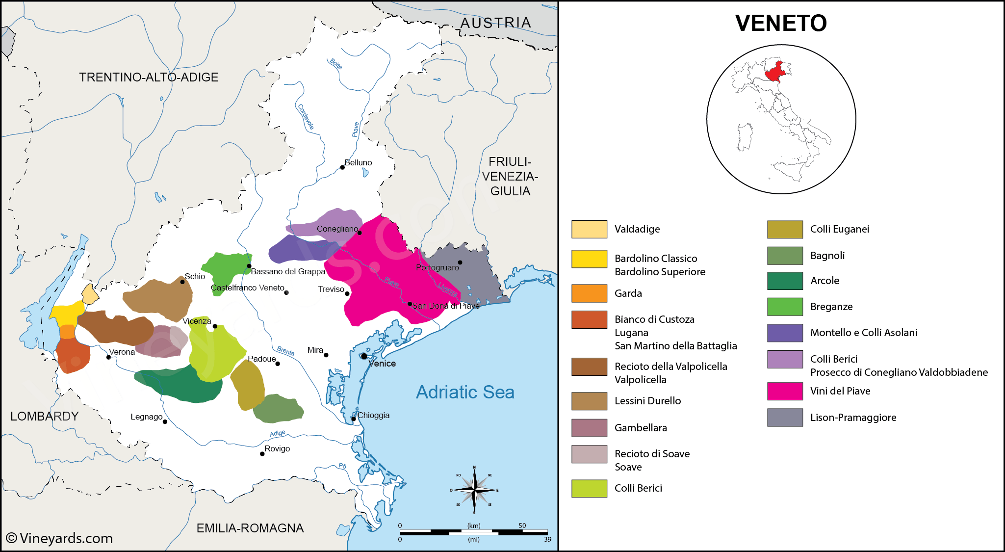 Wine Regions in Veneto