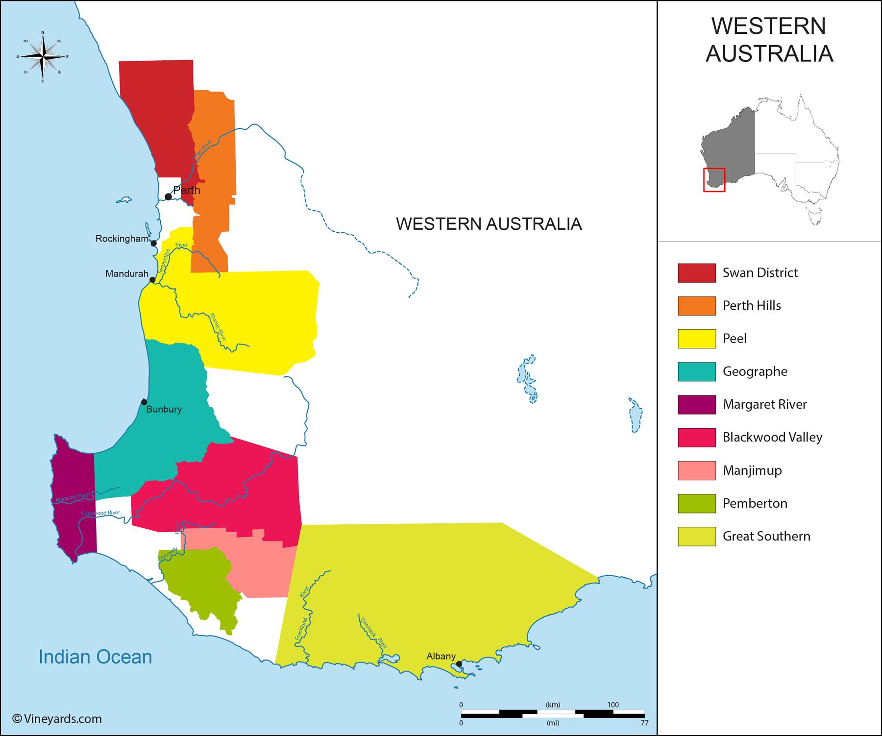 Wine Regions in Western Australia